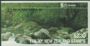 NZ Booklet SGSB42 $3.30 Kakapo Booklet containing SG1288 overprinted Stockholmia